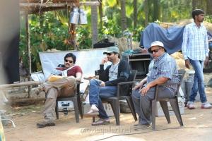 Pawan Kalyan, Trivikram Srinivas, BVSN Prasad at Attarintiki Daredi Working Stills