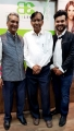 Mr. Narsaria, Dr. Ram Barot & Shashank Narsaria (Owner, BE) at the inauguration of Basic Elements-Pro Unisex Salon in Malad, Mumbai.1