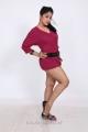 Telugu Actress Avanika Photo Shoot Pics in Pink Short Frock Dress