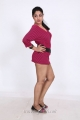 Actress Avanika Hot Photo Shoot Pics in Pink Short Frock Dress