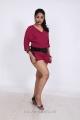 Telugu Actress Avanika  in Pink Dress Hot Photo Shoot Pics
