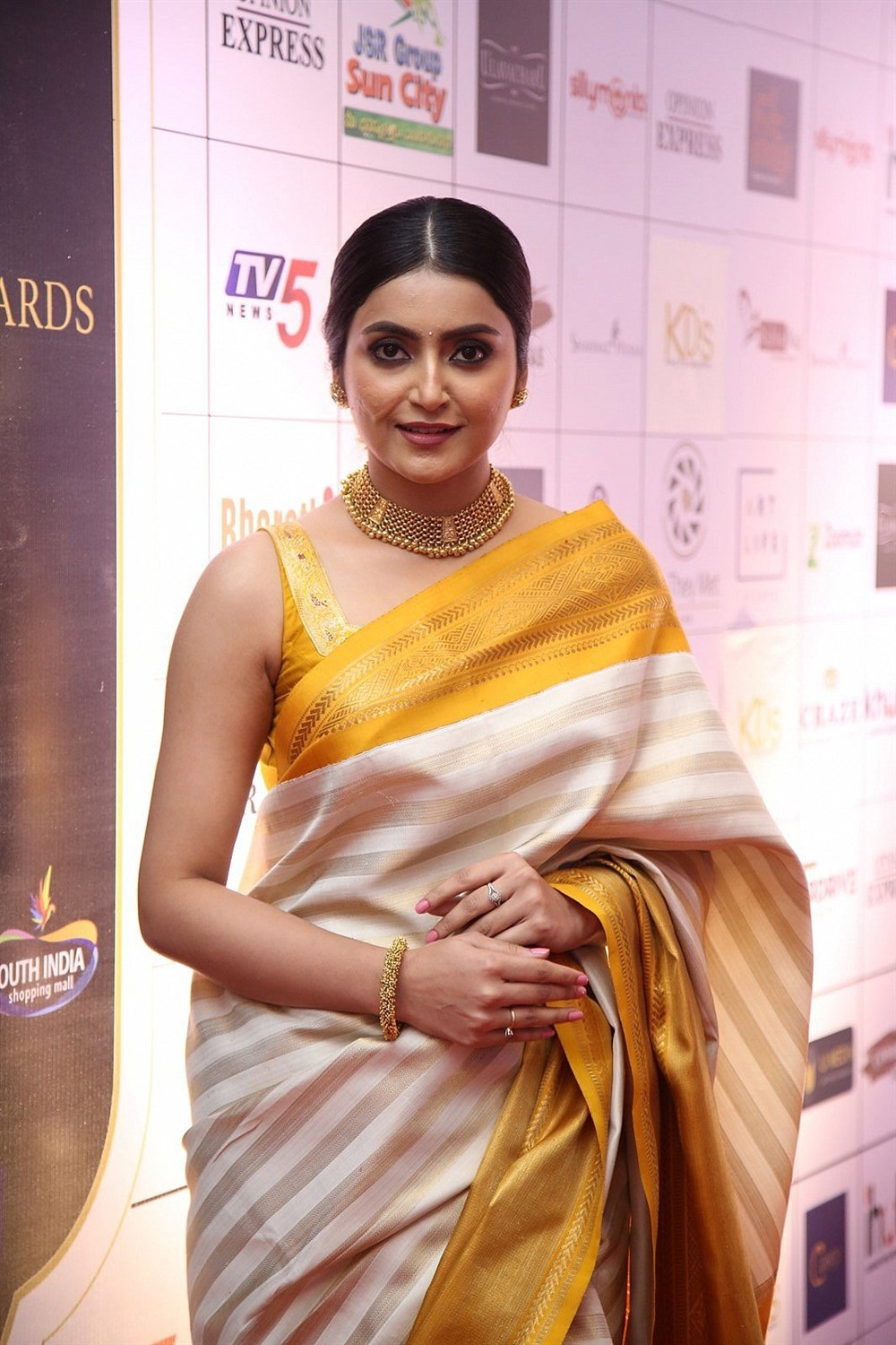 Telugu Actress Avantika Mishra in Silk Saree Photos