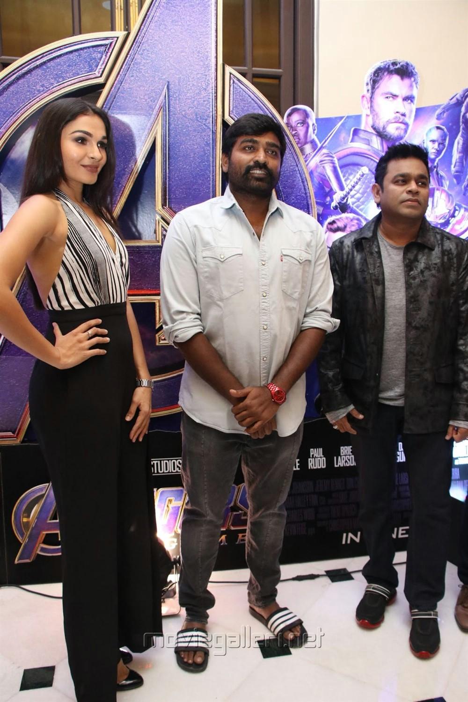 Andrea Jeremiah, Vijay Sethupathi, AR Rahman @ Avengers Endgame Press Meet Photos