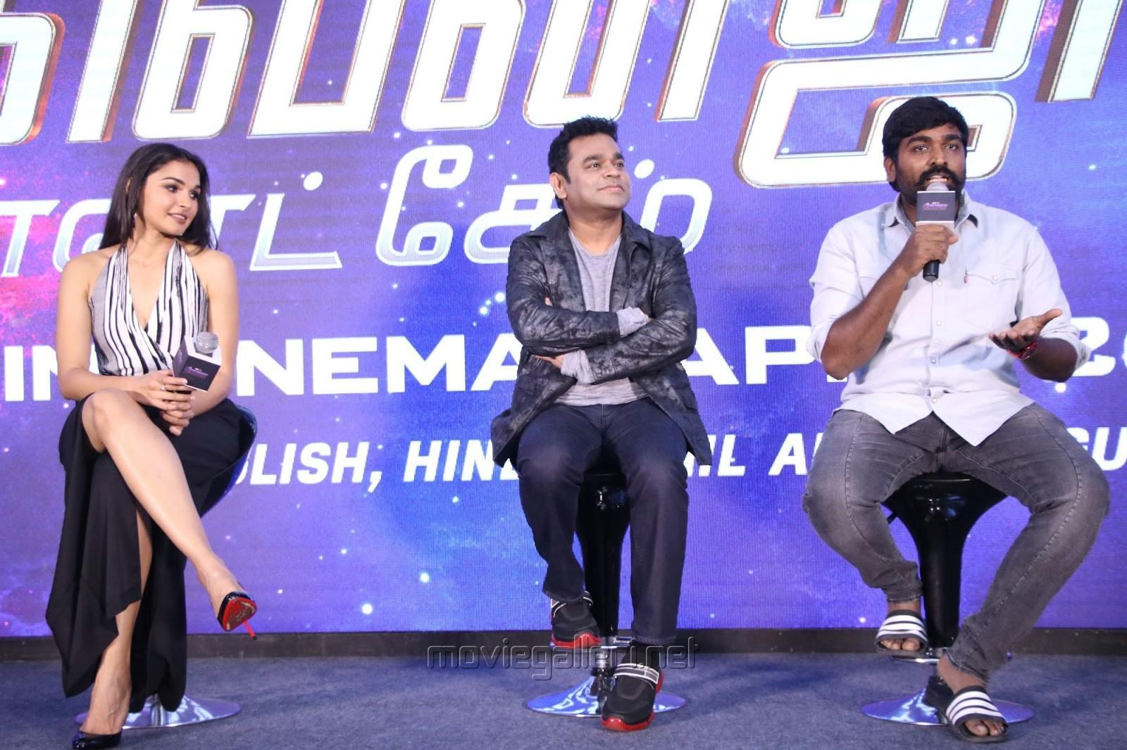Andrea, AR Rahman, Vijay Sethupathi @ Avengers Endgame Press Meet Photos