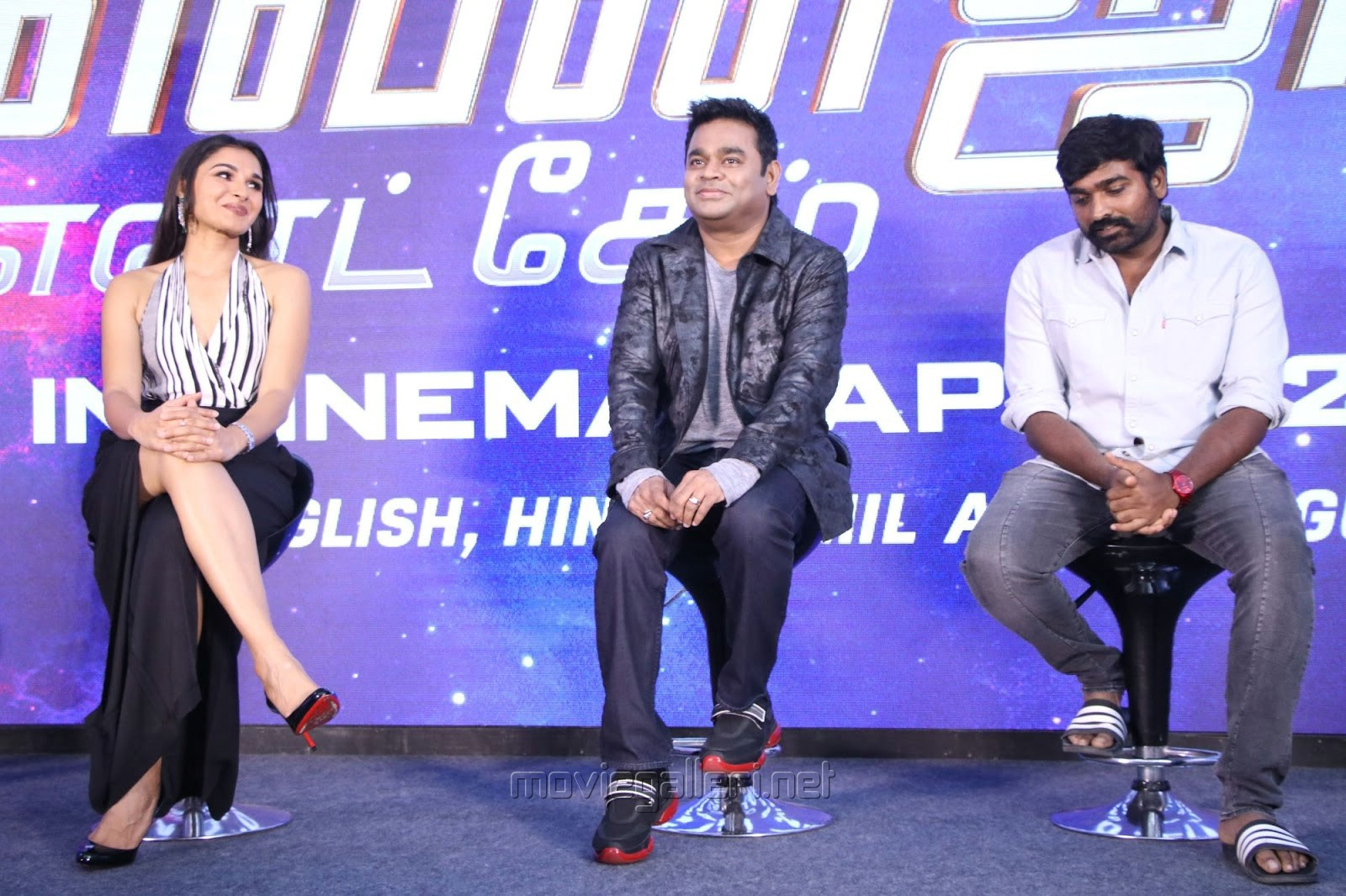 Andrea, AR Rahman, Vijay Sethupathi @ Avengers Endgame Press Meet Photos