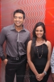 Jack Micheal, Aarushi at Azhagan Azhagi Movie Audio Launch Stills