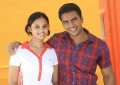 Actor Jo, Actress Aarushi @ Azhagan Azhagi Movie Stills