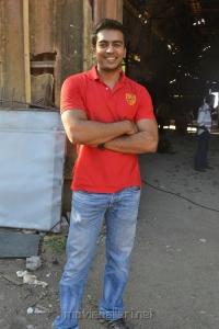 Actor Jack Micheal at Azhagan Azhagi Shooting Spot Stills