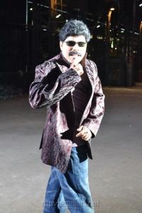 Powerstar Srinivasan at Azhagan Azhagi Shooting Spot Stills