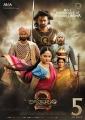 Rana, Prabhas, Anushka, Sathyaraj, Ramya Krishnan in Baahubali 2 Movie 5th Week Posters