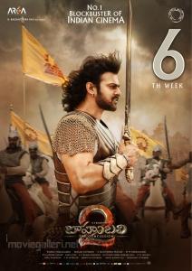 Actor Prabhas in Baahubali 2 Telugu Movie 6th Week Posters