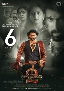 Prabhas, Anushka, Rana in Baahubali 2 Movie 6th Week Posters