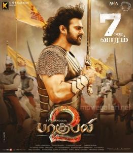 Prabhas Baahubali 2 Tamil Movie 7th Week Posters