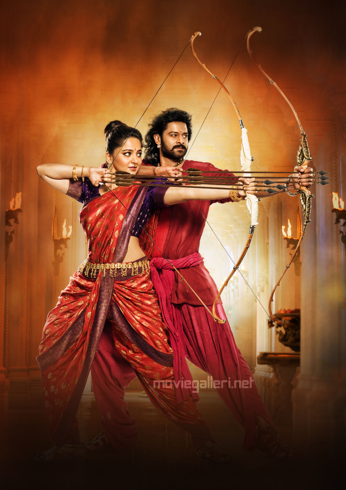 Anushka Shetty, Prabhas in Baahubali 2 Movie Stills