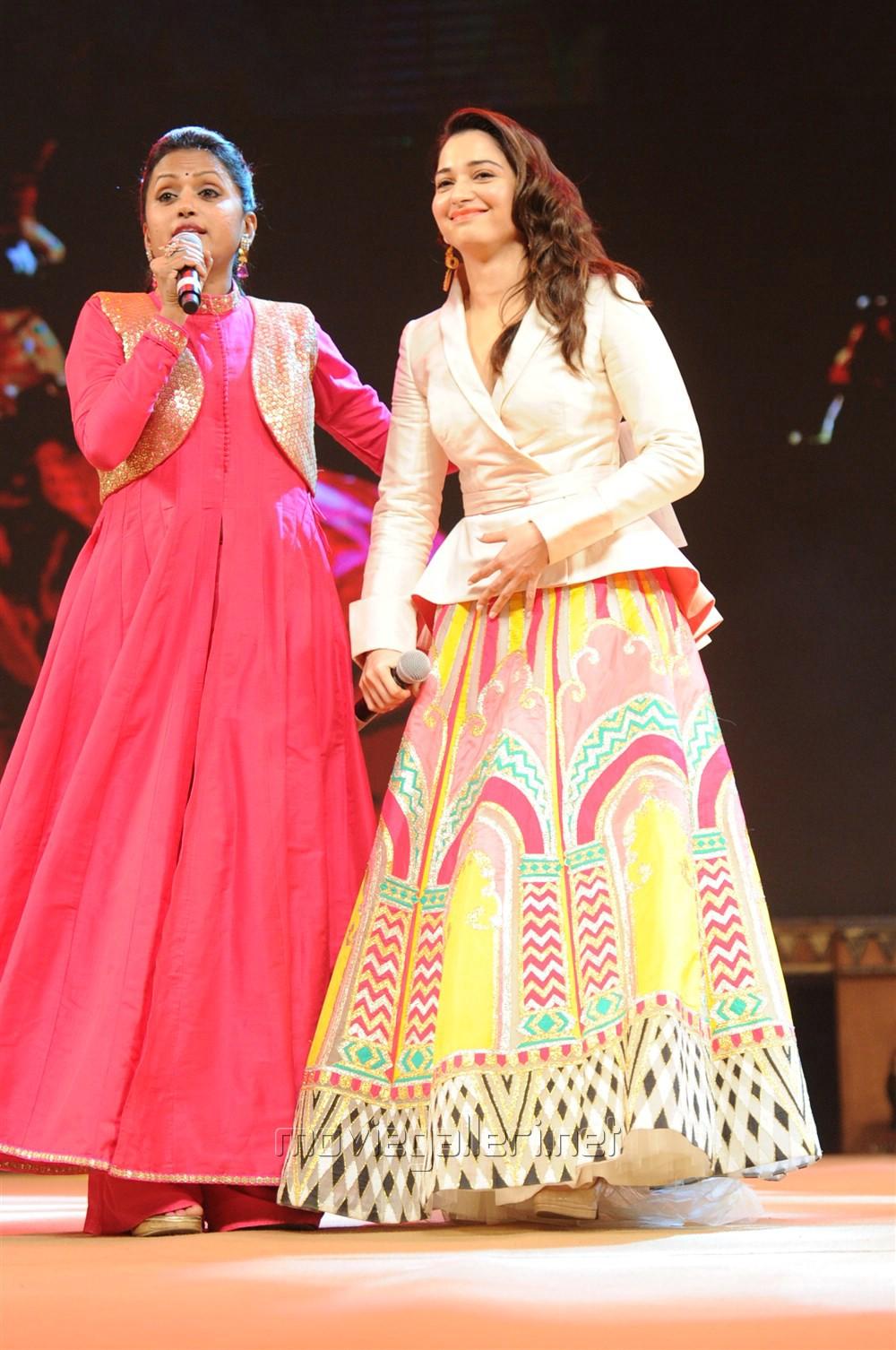 Suma, Tamannaah @ Baahubali 2 Pre Release Function Photos