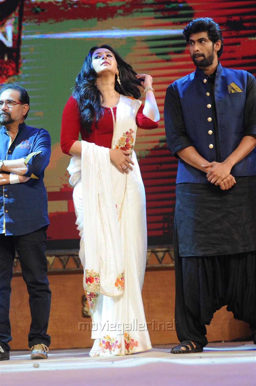 Anushka Shetty, Rana Daggubati @ Baahubali 2 Pre Release Function Photos