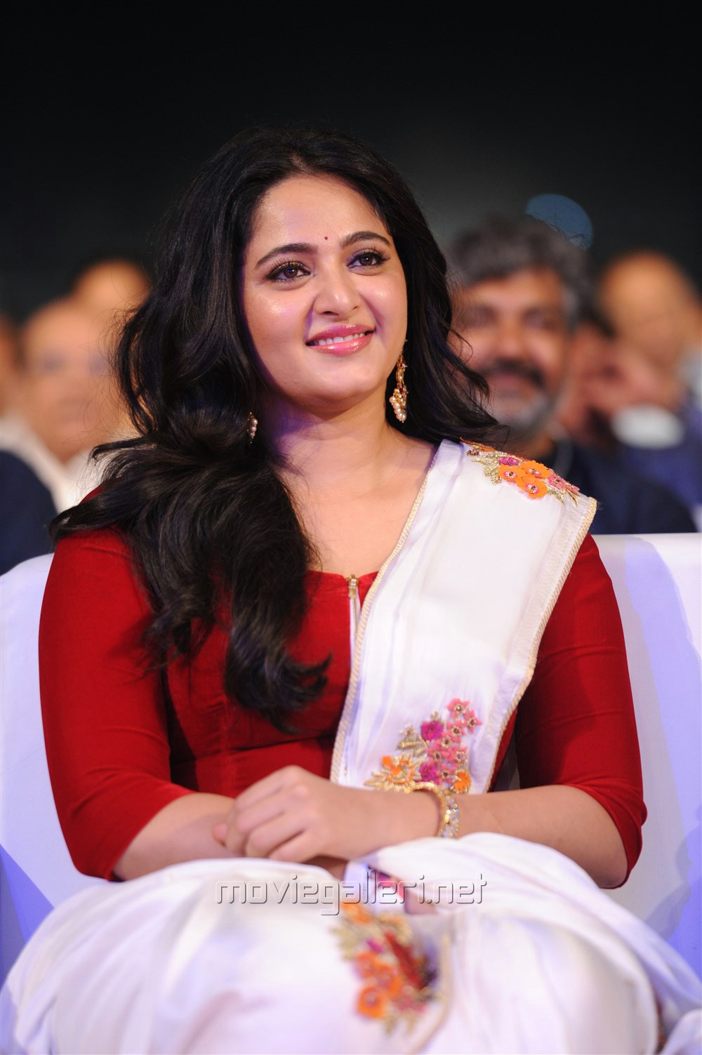 Actress Anushka Shetty @ Baahubali 2 Pre Release Function Photos