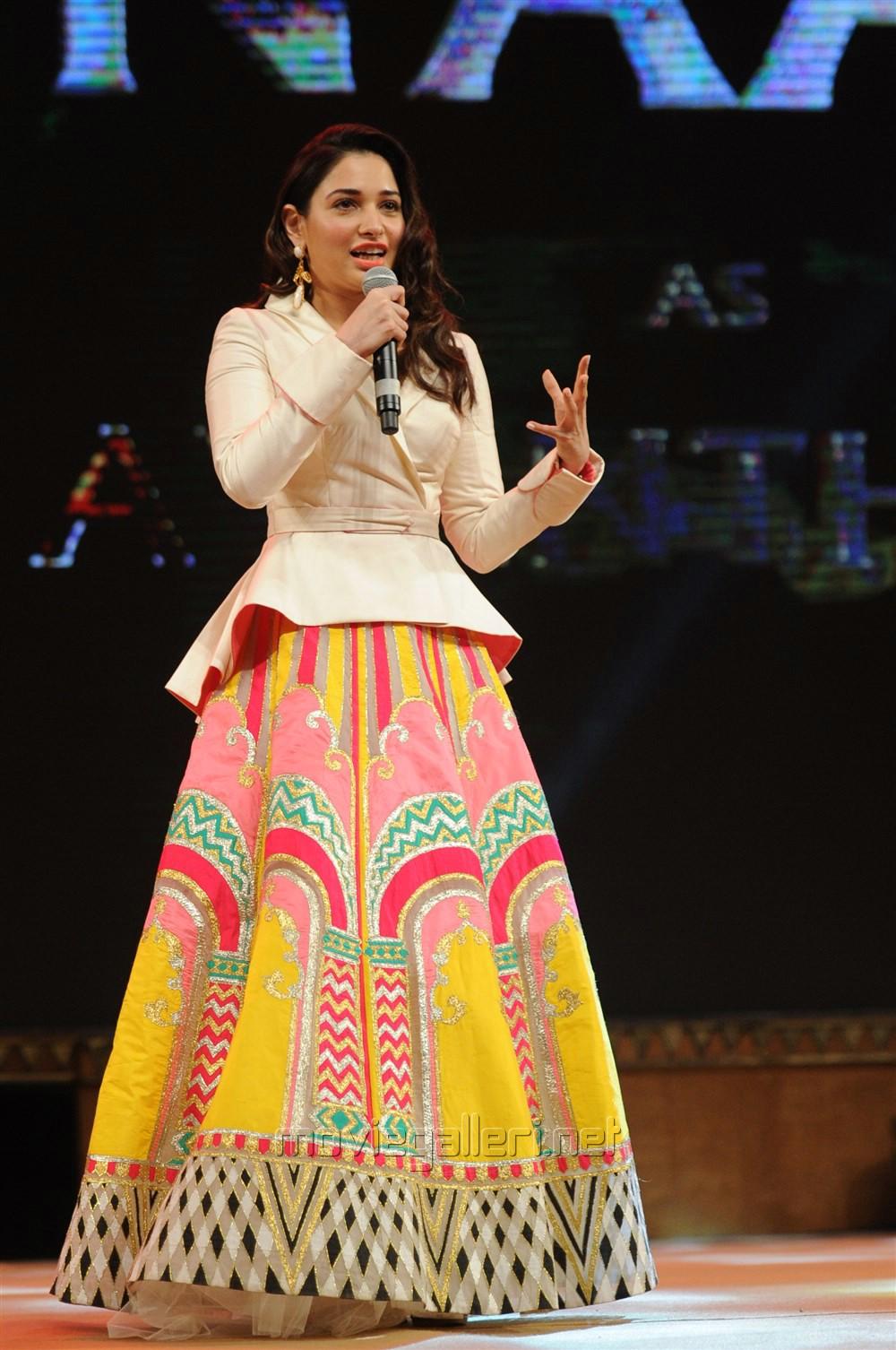 Actress Tamannaah @ Baahubali 2 Pre Release Function Photos