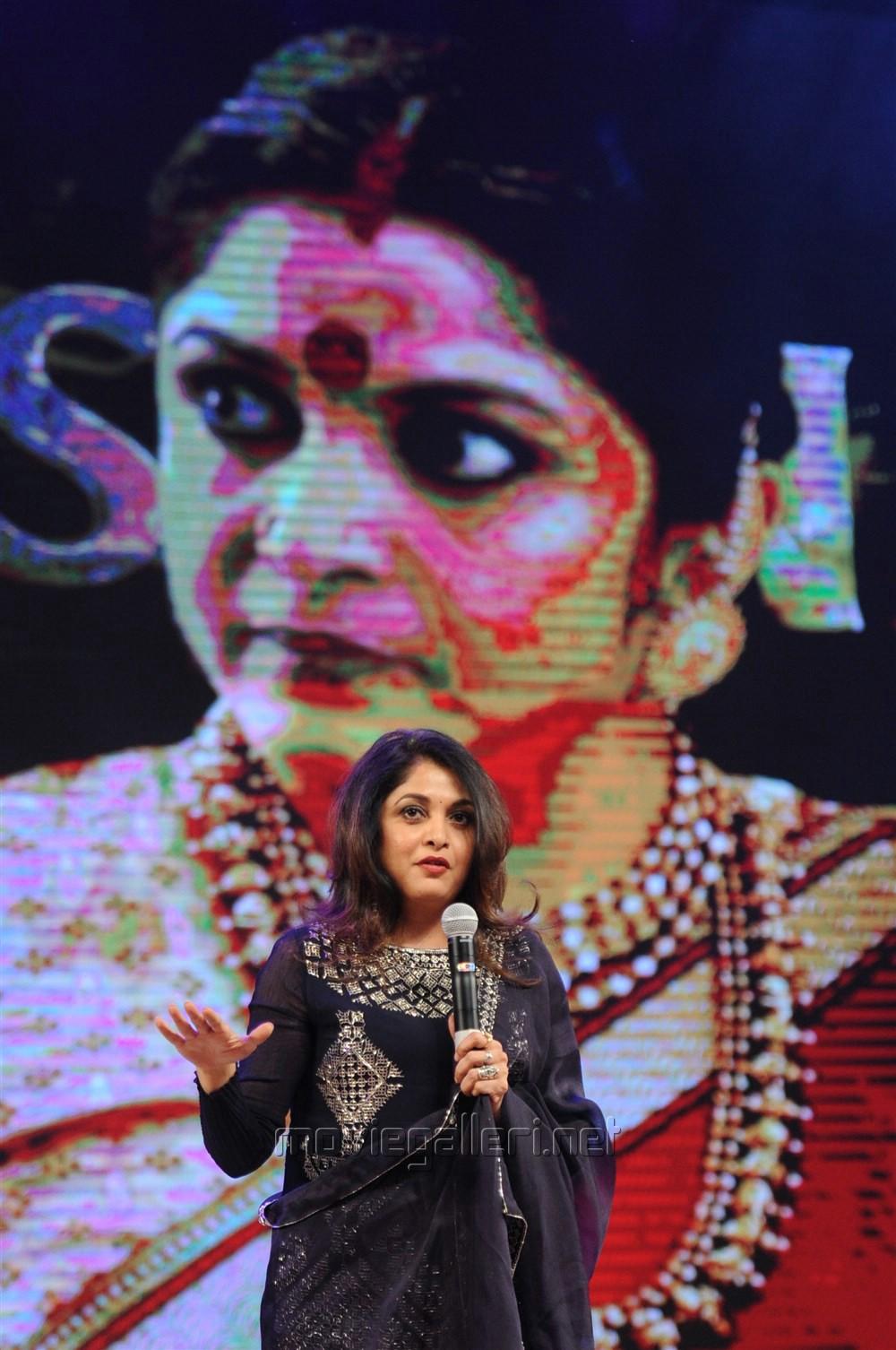Actress Ramya Krishnan @ Baahubali 2 Pre Release Function Photos