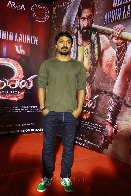 Krishna Kulasekaran @ Baahubali 2 Tamil Audio Launch Photos