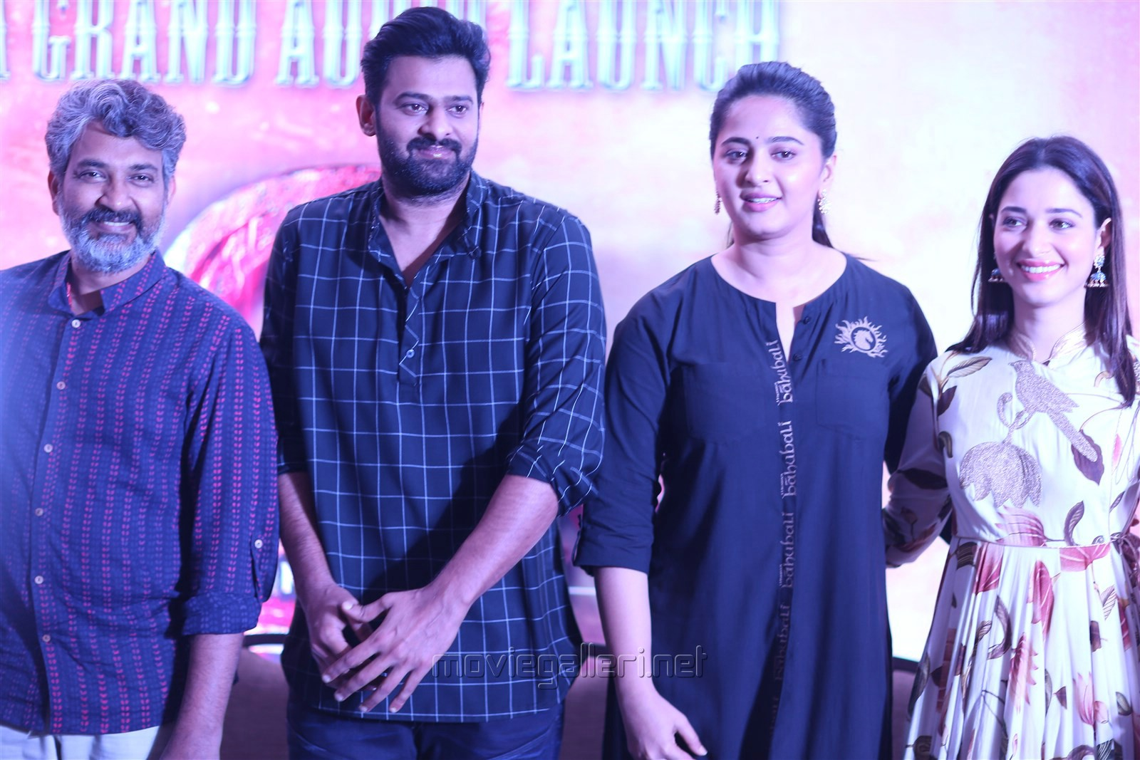 SS Rajamouli, Prabhas, Anushka Shetty, Tamannaah @ Baahubali 2 Press Meet Stills