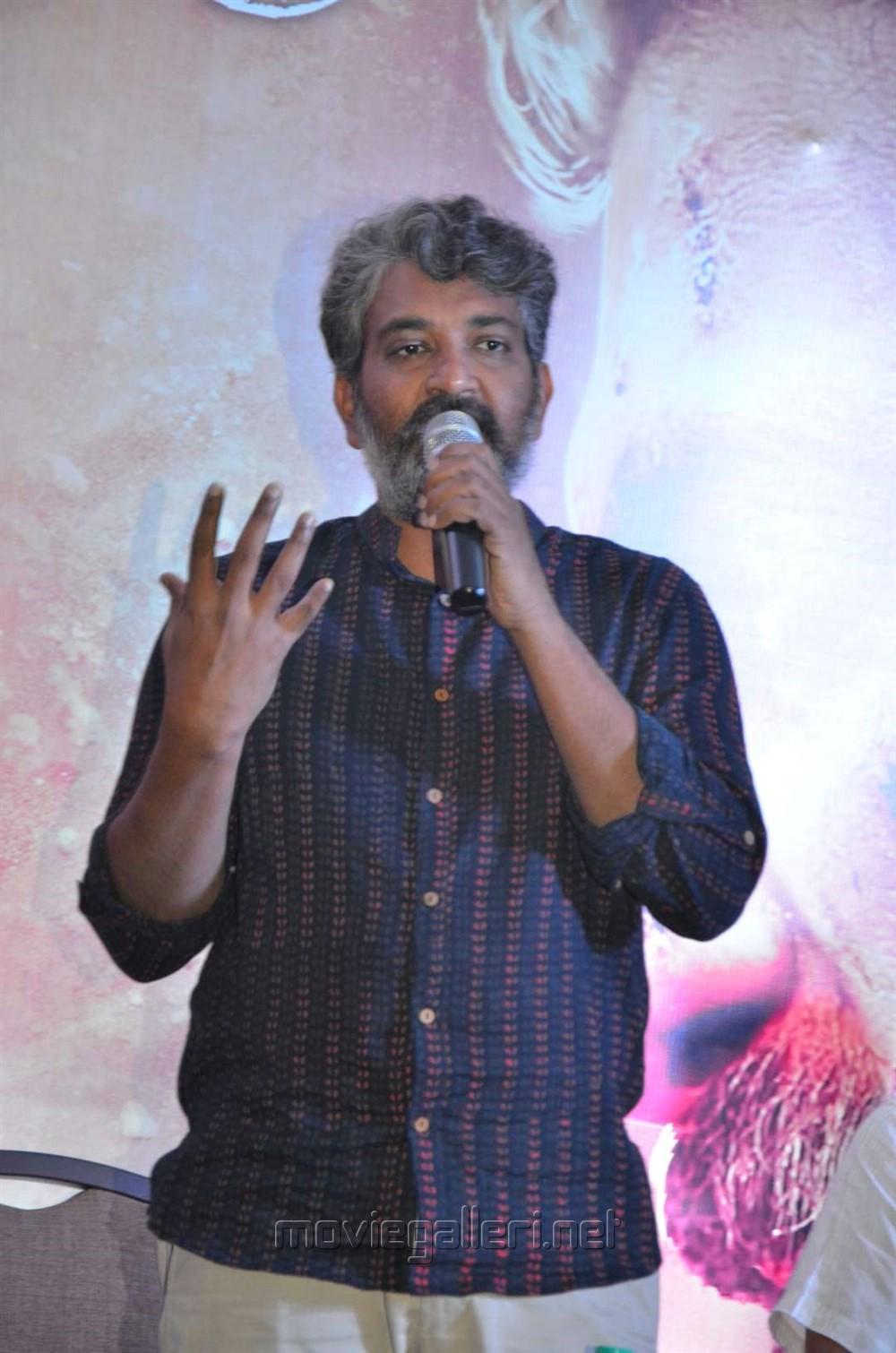 Director SS Rajamouli @ Baahubali 2 Press Meet Stills