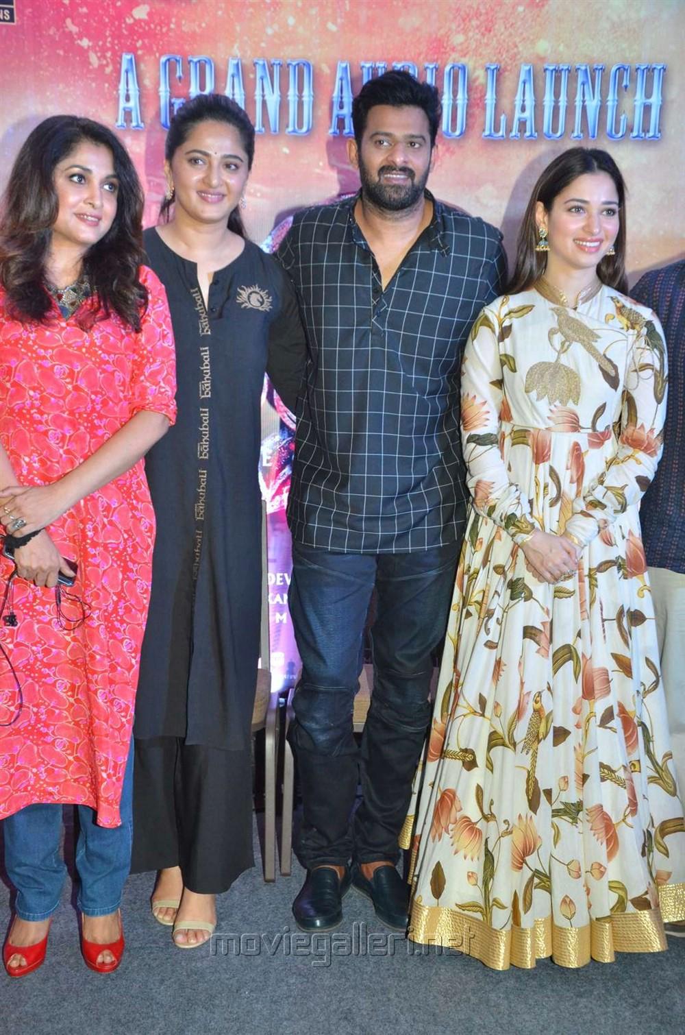 Ramya Krishnan, Anushka, Prabhas, Tamanna @ Baahubali 2 Press Meet Stills