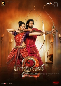 Anushka, Prabhas in Baahubali 2 Tamil Movie Posters
