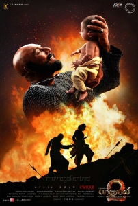 Sathyaraj in Baahubali 2 Tamil Movie Posters