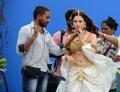 Actress Tamanna @ Baahubali Movie Shooting Spot Stills