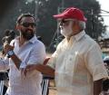 Shobu Yarlagadda, K Raghavendra Rao @ Baahubali Movie Shooting Spot Stills