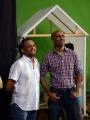 Shobu Yarlagadda, Prasad Devineni @ Baahubali Movie Shooting Spot Stills