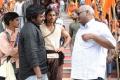 MM Keeravani,V V Vinayak @ Badrinath Movie Shooting Spot Stills