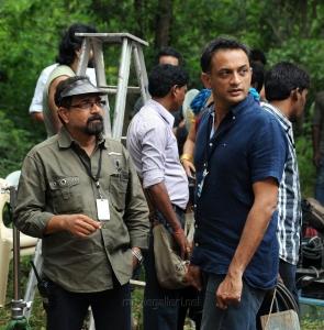 Sabu Cyril, Shobu Yarlagadda @ Bahubali Movie Working Stills