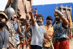SS Rajamouli, Rana Daggubati @ Bahubali Movie Working Stills