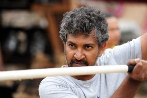 Director SS Rajamouli @ Baahubali Movie Working Stills