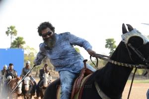 Director SS Rajamouli @ Bahubali Movie Working Stills