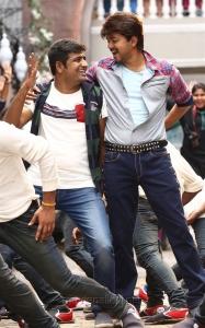 Sathish, Vijay in Bairavaa Movie New Stills