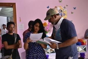 Regina Cassandra, Pavan Mallela @ Balakrishnudu Movie Working Stills