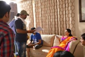 Pavan Mallela, Sathya Krishna @ Balakrishnudu Movie Working Stills