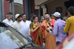 Ramya Krishnan, Pavan Mallela @ Balakrishnudu Movie Working Stills