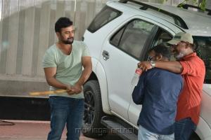Pavan Mallela, Nara Rohit @ Balakrishnudu Movie Working Stills