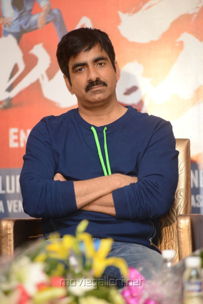 Actor Ravi Teja at Balupu Movie Success Meet Stills