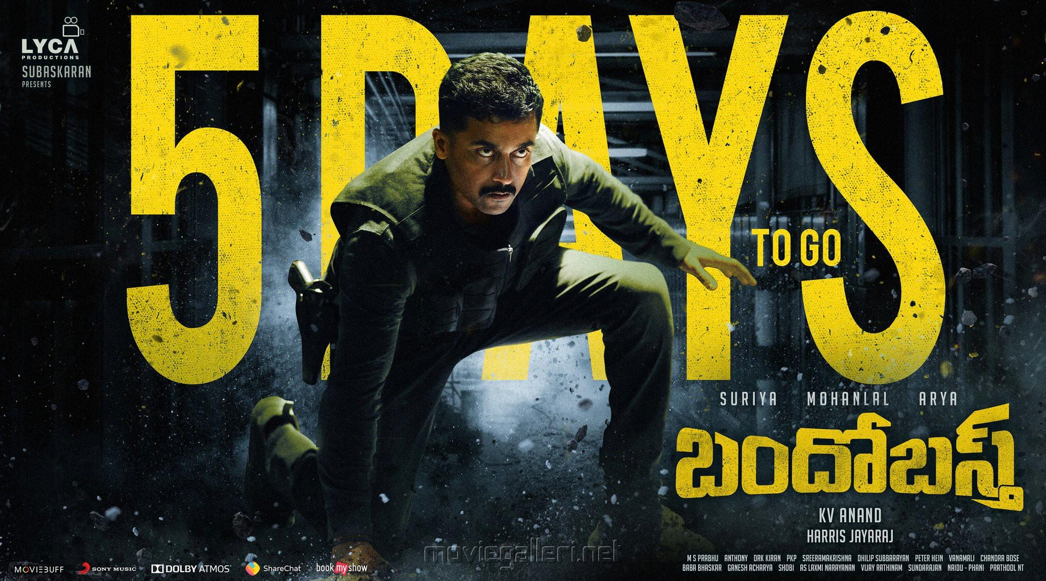 Hero Suriya Bandobast Movie Release Posters HD