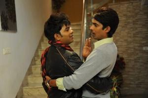 Chammak Chandra, Dhanraj in Banthi Poola Janaki Movie Stills