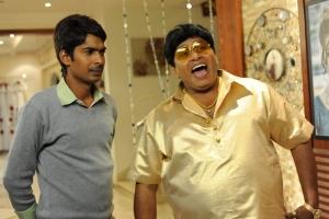 Dhanraj, Adhurs Raghu in Banthi Poola Janaki Movie Stills