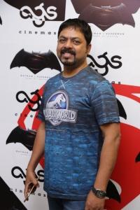 James Vasanthan @ Batman v Superman: Dawn of Justice Premiere Show at AGS Cinemas, T Nagar, Chennai