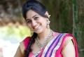 Telugu Actress Aksha Beautiful Saree Stills
