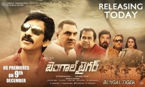 Actor Ravi Teja in Bengal Tiger Movie Release Wallpapers