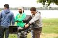 Producer KK Radha Mohan @ Bengal Tiger Movie Shooting Spot Photos
